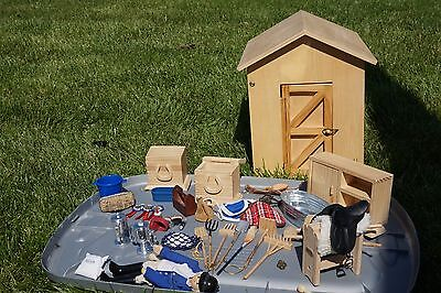 Hearthsong Lucky Horseshoe Tack Room Barn With Breyer Accessories