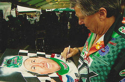 John Force Autographed painting by Robert Emerald Shappy