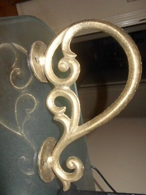 "Vintage Cast Brass~ ART DECO~~ 6""~~ Door Handle"