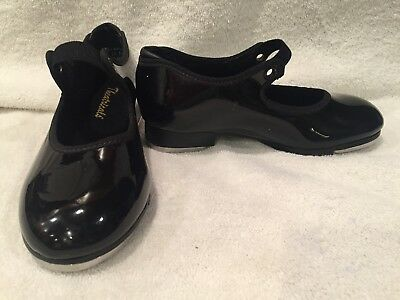 Theatricals Children's Black Patent Leather Tap Shoes Size 11 1/2 M