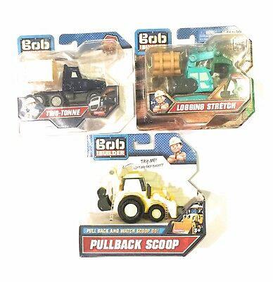Bundle BOB THE BUILDER:Pullback scoop,Logging stretch, two tone : fisher price