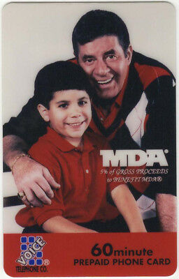 Jerry Lewis Collectable Limited Edition MDA VTC Phone Card with Bonus Card