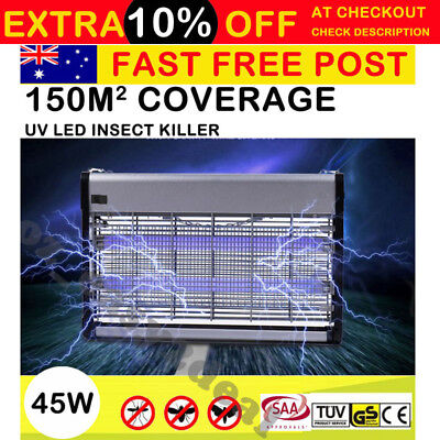 45W Insect Killer Mosquito Pest Fly Bug Zapper Catcher Trap Electric UV-A LED AU