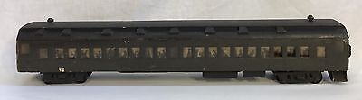 Antique Vintage Wood Toy Railroad Passenger Train Car Silhouettes Of People