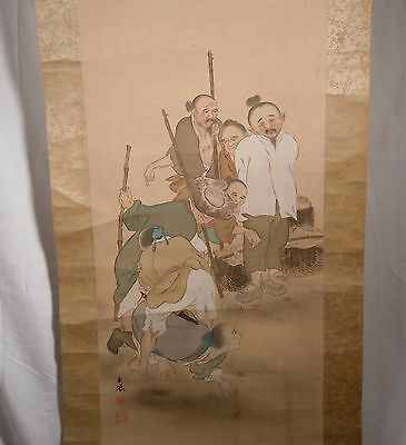Old Japanese or Chinese Hanging Scroll       88507