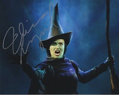 IDINA MENZEL autographed 8x10 color photo       AMAZING POSE FROM WICKED