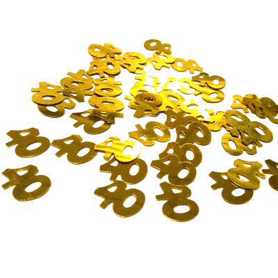 Gold Number Glitz Confetti Wedding Anniversary Birthday Party Table Decoration