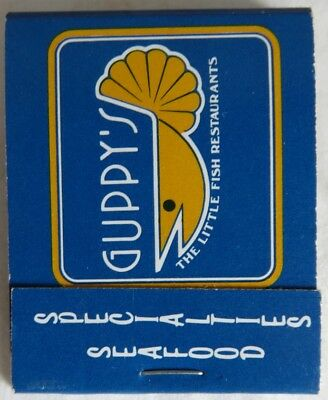 Vintage Guppy's Seafood Vancouver Unused Matchbook               (Inv14531)