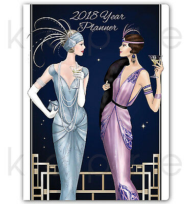 Art Deco 2018 YEAR PLANNER Oragniser Claire Coxon *CHEAP DISCOUNTED*