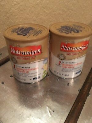 2 Cans of Nutramigen with Enflora LGG for Cow's Milk Allergy Powder 12.6 oz
