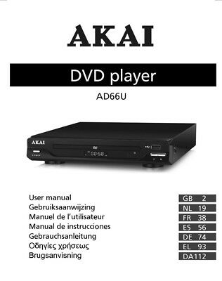 rotel rdv 1060 dvd player owners instruction manual 18 99 picclick rh picclick com akai dvd player user manual akai dvd player a51002 manual
