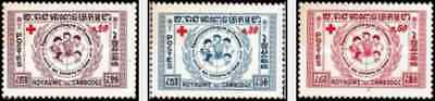 Timbres Croix rouge Cambodge 81/3 * lot 22171