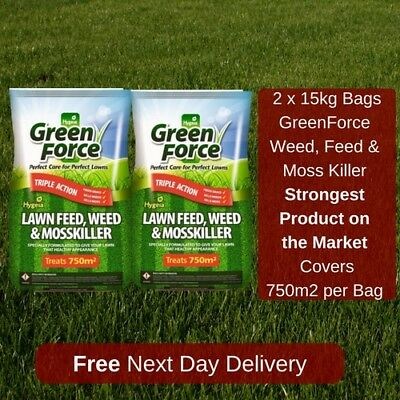 750 M2 Greenforce Lawn Feed Weed And Moss Killer Best Value On Ebay 2 Bags