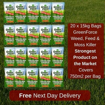750 M2 Greenforce Lawn Feed Weed And Moss Killer Best Value On Ebay 20 Bags