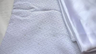 NEW 2-piece Salwar kameez silver grey white material fabric sequins
