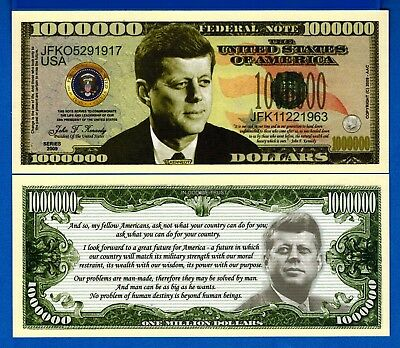 Kennedy 1963 Made America Great Again Uncirculated Banknotes