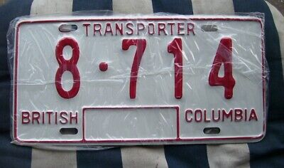 British Columbia Canada Canadian American License Number Plate #bc