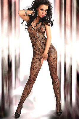 Sexy Bodystocking ouvert aus Netz, Catsuit