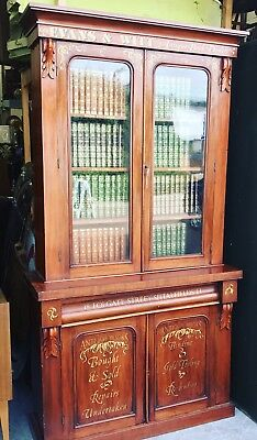 The Most Amazing Victorian Mahogany Book Dealers Bookcase. Offers?