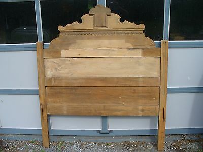 Old Wooden Victorian Headboard