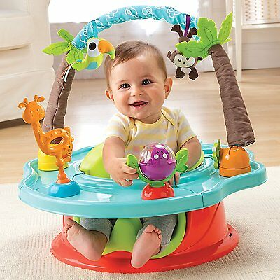 Summer Infant 3-Stage Deluxe SuperSeat, Wild Safari booster Seat Jumper Romper