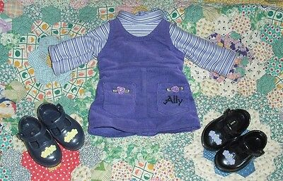 """Amazing ALLY 18"""" Interactive Electronic Doll ONE PIECE PURPLE JUMPER & SHOES"""