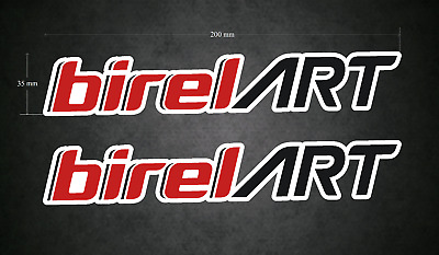 2 x 200mm x 35mm BIREL ART Stickers/Decals - Karting - Go-Kart