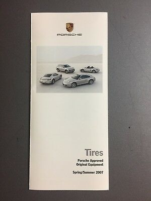 2007 Porsche Tires Showroom Sales Folder / Brochure RARE!! Awesome L@@K