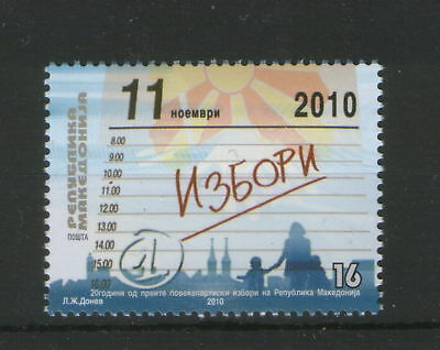 Macedonia-Mnh**-Stamp-Elections-2010.