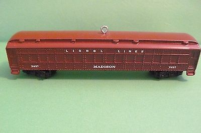 "2016 Hallmark ""LIONEL 2627 MADISON PASSENGER CAR"""