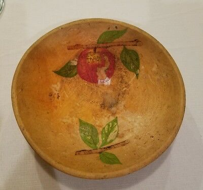 Munising wooden bowl with apple
