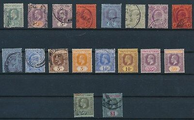 Strait Settlements (1902-1921) **(18) EDWARD VII & GEORGE V ISSUES**; CV $47
