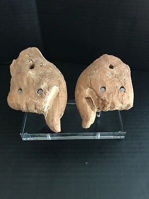 Ancient Egyptian Wooden Hand set - 4.5 and 4 Inches