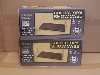 2 X 1/24 Scale Triple 9 Acrylic Display Cases  Suit 1/24 & 1/18 Models  Trax