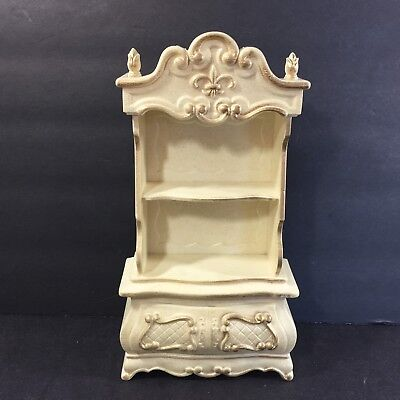 Vtg Susy Goose Barbie Doll Hutch French Provincial Book Shelf China Cabinet