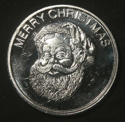 Merry Christmas Happy New Year  1 Oz .999 Pure Silver Round  Lot 261039