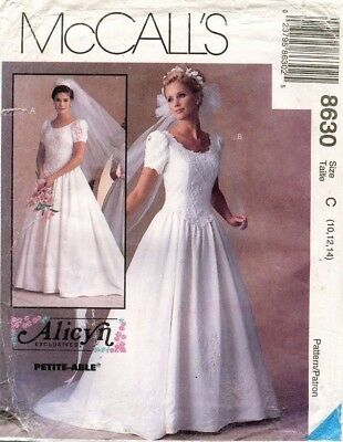 McCall's Misses' Bridal Gown Dress Alicyn Pattern 8630 Size 10-14 UNCUT