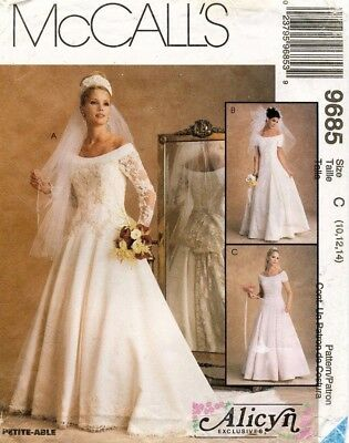 McCall's Misses' Bridal Gown Dress Alicyn Pattern 9685 Size 10-14 UNCUT