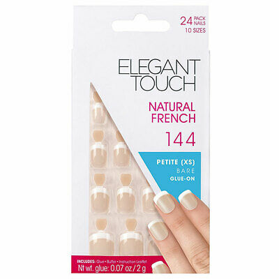 Elegant Touch Natural French Petite Bare Glue On 144