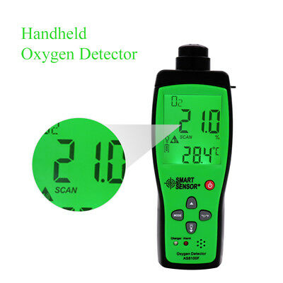 SMART SENSOR AS8100F Handheld Oxygen Detector Gas Analyzer For Industry New UK