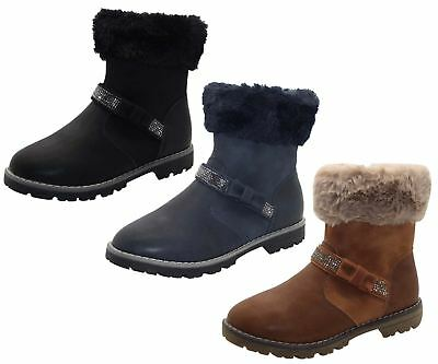 New Children Ankle Faux Fur Trim Style Gypsy Boots Flat Heel Girls Causal Shoes