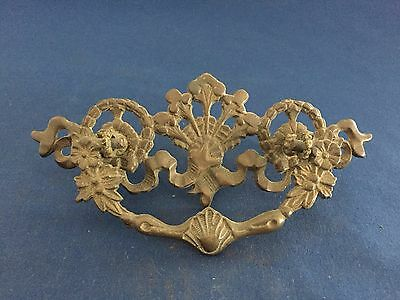 Antique Victorian Brass Drawer Pull Handle