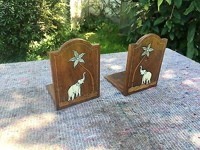 Pair Of Inlaid Book Ends