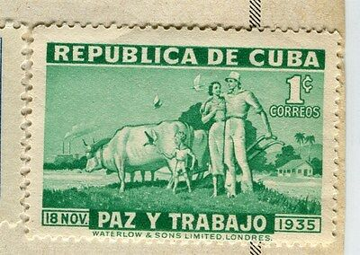 SPANISH CARIBBEAN;  1936 early Gomez issue Mint hinged 1c. value