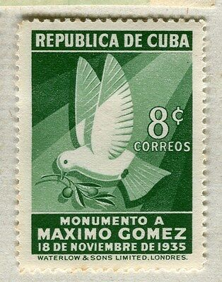 SPANISH CARIBBEAN;  1936 early Gomez issue Mint hinged 8c. value