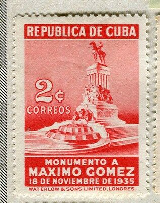 SPANISH CARIBBEAN;  1936 early Gomez issue Mint hinged 2c. value