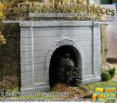 """Z Scale """"Formed Concrete"""" Tunnel Portal Scale Model Masterpieces *NEW PRODUCT!*"""
