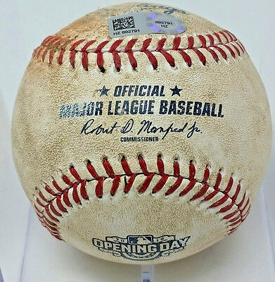 CHICAGO CUBS 2016 OPENING DAY BALL 4/4/16 vs Angles MLB CERTIFICATION #HZ892791