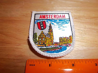 Amsterdam, The Netherlands, Holland beautiful woven style Patch, colorful