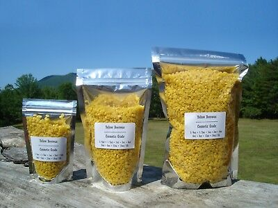 100% Pure Yellow Beeswax Pellets Pastilles Bead Filtered Refined 1oz - 5lb pound